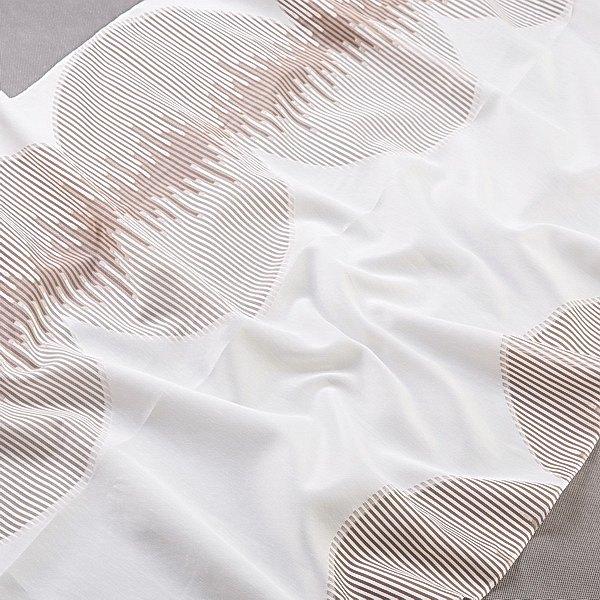 Tkanina zasłonowa FKJ 10307 /004 kremowy z brązowym