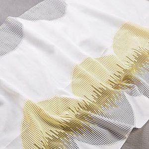 Tkanina zasłonowa FKJ 10307 /006 kremowy z żółtym i szarym