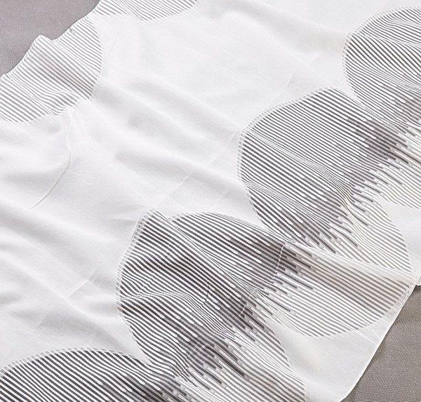 Tkanina zasłonowa FKJ 10307 /007 kremowy z szarym