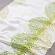 Tkanina zasłonowa FKJ 10307 /010 kremowy z zielonym i bezowym