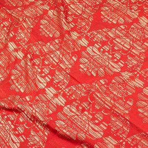 Tkanina zasłonowa NEW JAIPUR /13-17 czerwony z beżowym