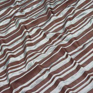 Tkanina zasłonowa NEW JAIPUR STRIPE /24-14 brązowy z niebieskim