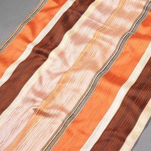 Tkanina zasłonowa PERU 3793 /4 pomarańczowy z brązowym i beżowym