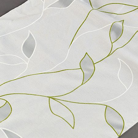 Tkanina zasłonowa RA 3193 /07 zielony na białym