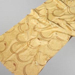 Tkanina zasłonowa RINGS /gold-złoty
