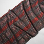 Tkanina zasłonowa TAFETTA A 599 /4 czarny z czerwonym