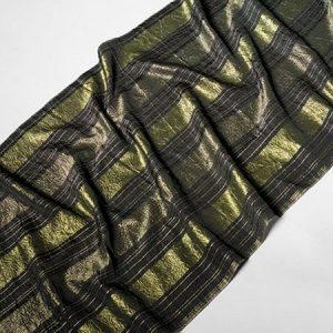 Tkanina zasłonowa TAFETTA A 599 /03 czarny z zielonym