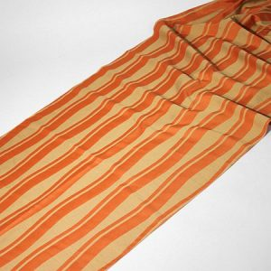 Tkanina zasłonowa VENICE 5115 /2 beżowy ciemny z pomarańczowym