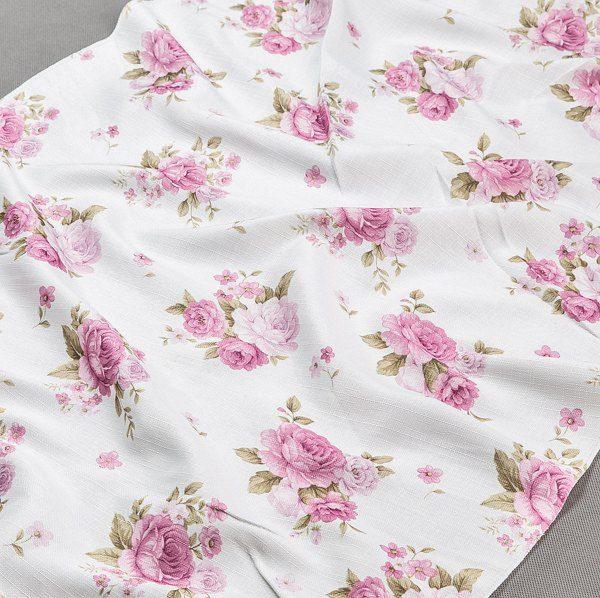 Tkanina zasłonowa YB 109 /4 beżowy z różowym