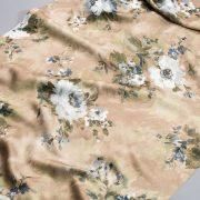 Tkanina zasłonowa KHP 2035 /1 brązowy z białym, szarym i zielonym