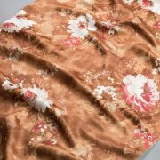 Tkanina zasłonowa KHP 2035 /2 brązowy z białym i czerwonym