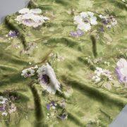 Tkanina zasłonowa KHP 2035 /3 zielony z białym i fioletowym