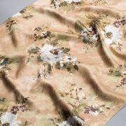 Tkanina zasłonowa KHP 2035 /6 brązowy z białym i zielonym
