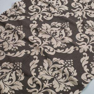 Tkanina zasłonowa SXQZ 1537 /11 brązowy ciemny z brązowym jasnym