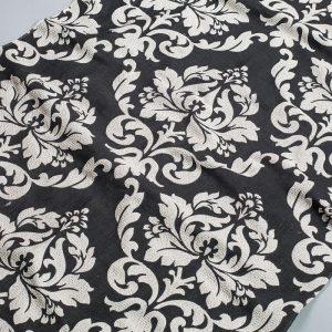 Tkanina zasłonowa SXQZ 1537 /14 czarny z kremowym