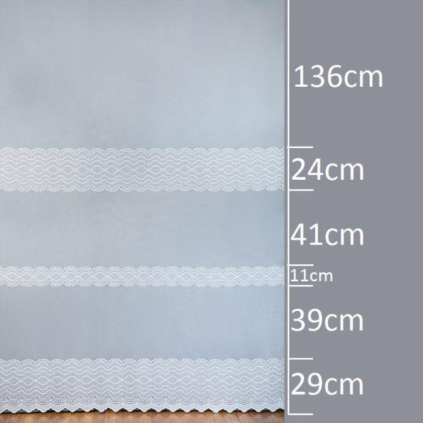 Firana 40737-3L /280/ wymiary wzoru