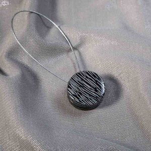 Klips magnetyczny ZEBRA /czarny ze srebrnym
