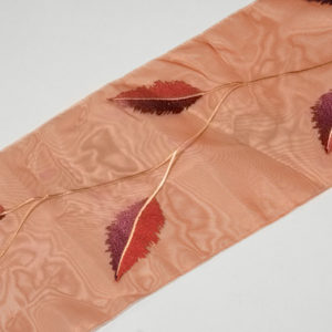 ORGANZA SOLITAIRE /4810 brązowy z rudym i fioletowym