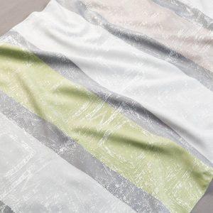 Tkanina zasłonowa F 6333 /05 zielony z szarym jasnym i ciemnym oraz beżowym