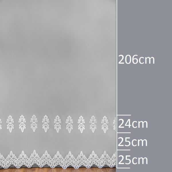 Firana 2396-2L /280/ wymiary wzoru
