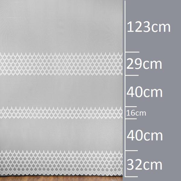 Firana 30474-3L /250/ wymiary wzoru