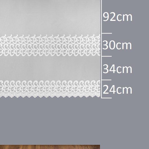 Firana 30122 /180/ wymiary wzoru