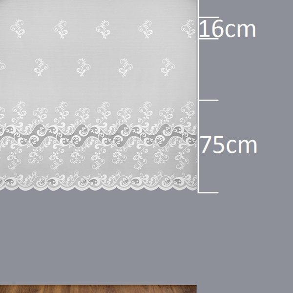 Firana 340380 /160/ wymiary wzoru