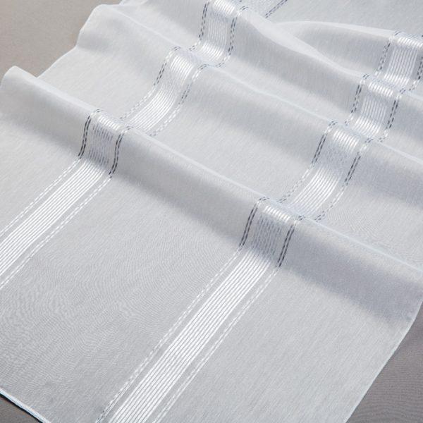 Firana 70017 /06 biały z czarnym