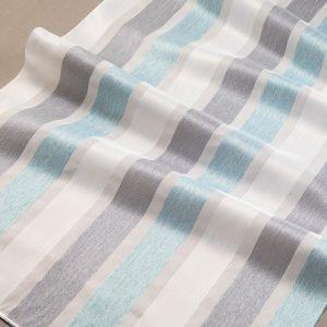 Firana 18115 /06 biały z niebieskim i szarym ciemnym