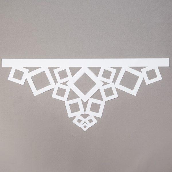Panel ażurowy /wzór 2 biały