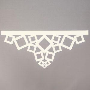 Panel ażurowy /wzór 2 kremowy