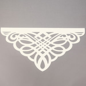 Panel ażurowy /wzór 3 kremowy