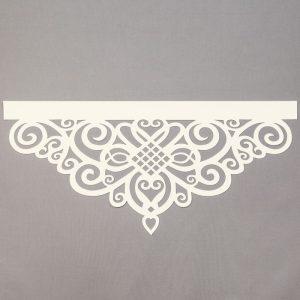Panel ażurowy /wzór 5 kremowy