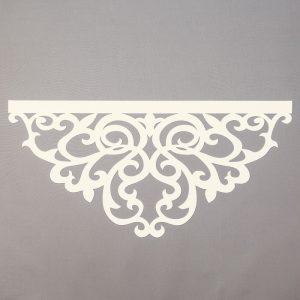 Panel ażurowy /wzór 6 kremowy