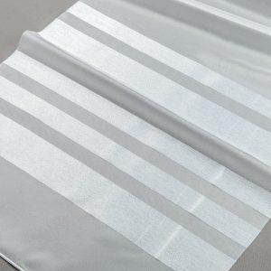 Firana POL-SAVA 001 /300/ 001 biały podkład z jasno srebrnymi pasami
