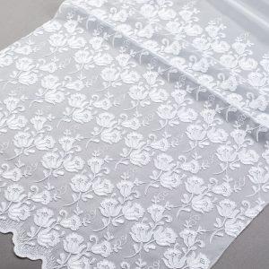 Firana 39912 -1L /280 - haft biały