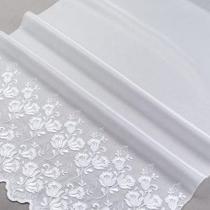 Firana 39913 -1L /180 haft biały