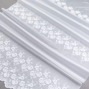 Firana 39913 -3L /280 haft biały