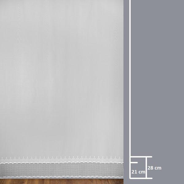 Firana 8920-1L /280/ wymiary wzoru