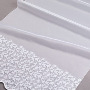Firana 96910-1L /160/ biały podkład z białym haftem z opalizującą nitką