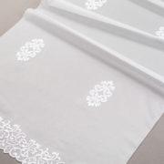 Firana 48296 /280/ biały (biały podkład z białym haftem z opalizującą nitką)
