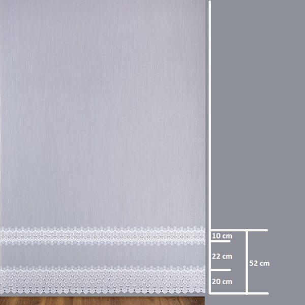 Firana B2 8783-2L /280/ wymiary wzoru