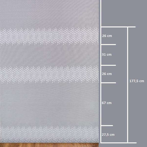 Firana 345340-3L /250/ wymiary wzoru