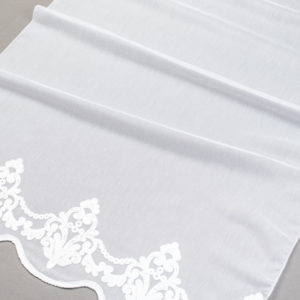Firana 4500 /280/ 01-biały haft na białym podkładzie