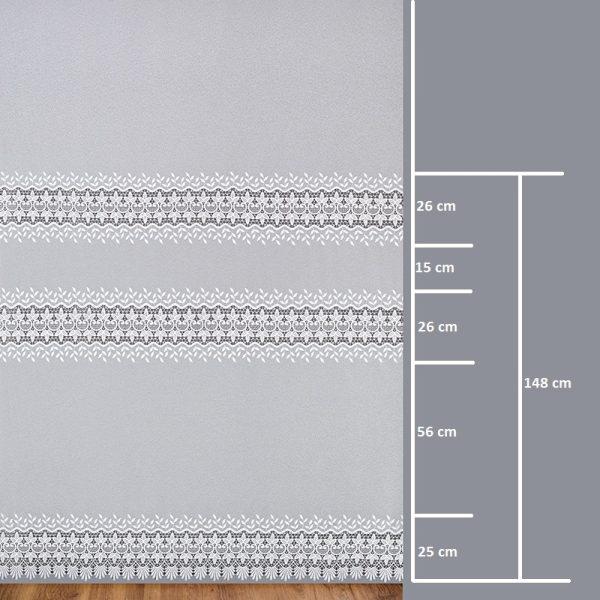 Firana 81170-3L /280/ wymiary wzoru