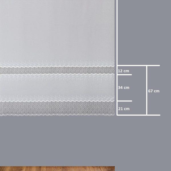 Firana 8954-2L /180/ wymiary wzoru