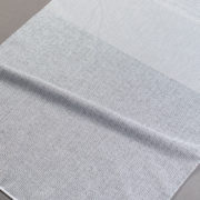 Firana 17416 /30/5 T10- biały z szaro-czarną nitką