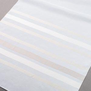 Firana 19260 /kol. 101- beżowy jasny i ciemny na białym podkładzie