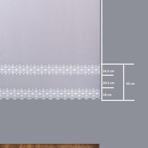 Firana 17931 /180- wymiary wzoru