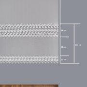 Firana 12585 / wymiary wzoru/180